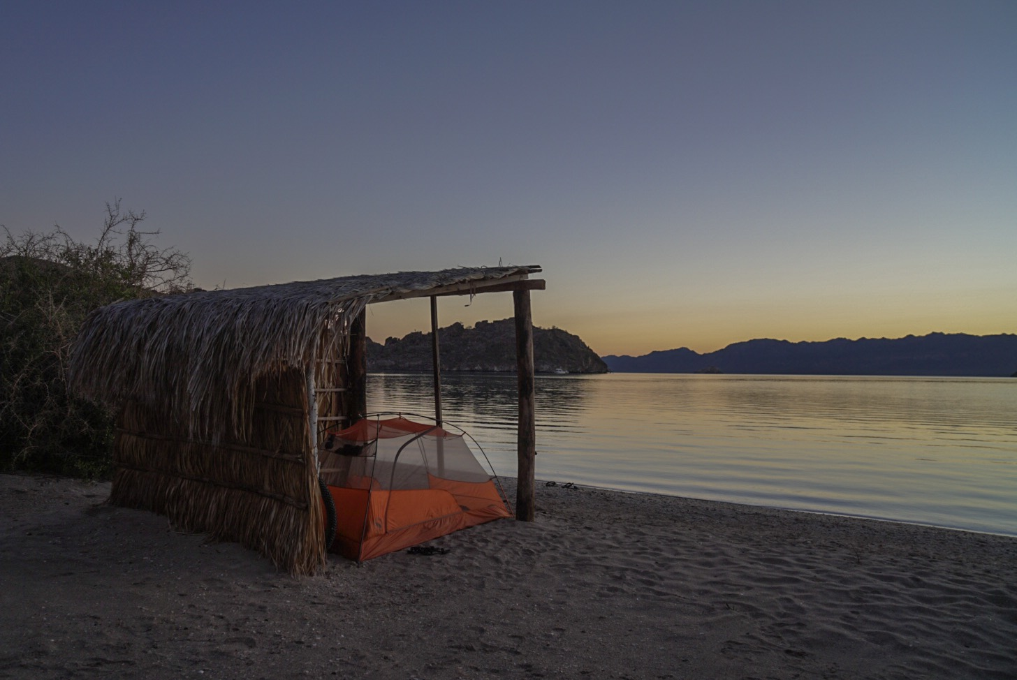 Our tent on the beach at Bahia Concepcion