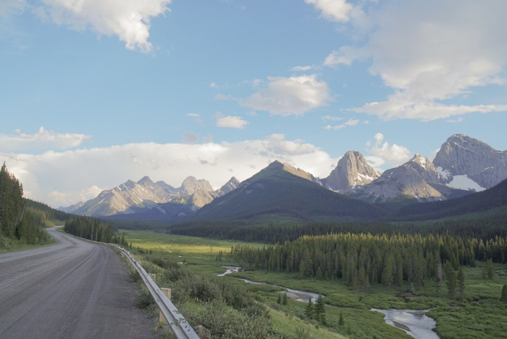 Picturesque Canadian highway